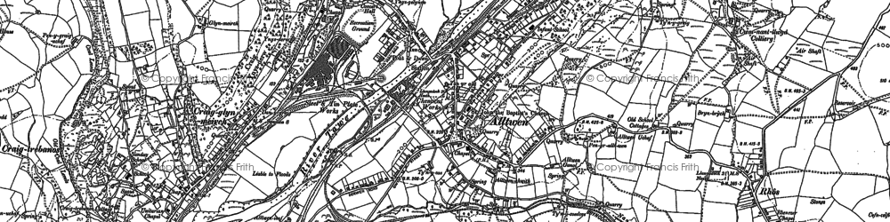 Old map of Alltwen in 1897