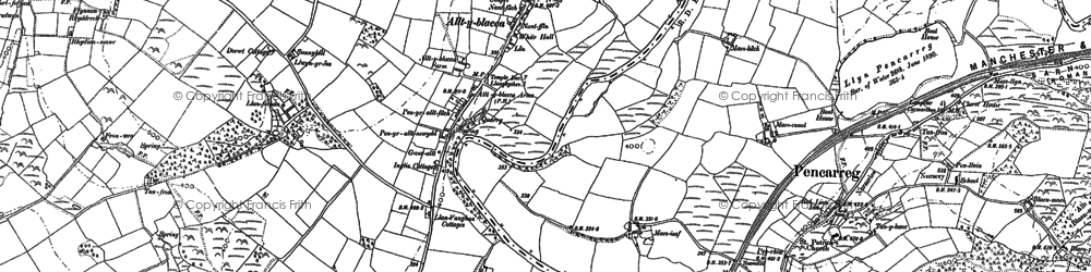 Old map of Alltyblaca in 1904