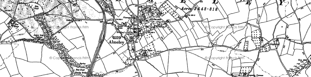 Old map of Almeley Wootton in 1885