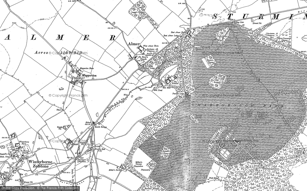 Old Map of Almer, 1887 in 1887