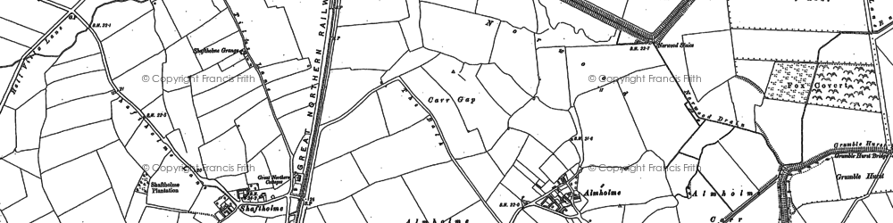 Old map of Almholme in 1891