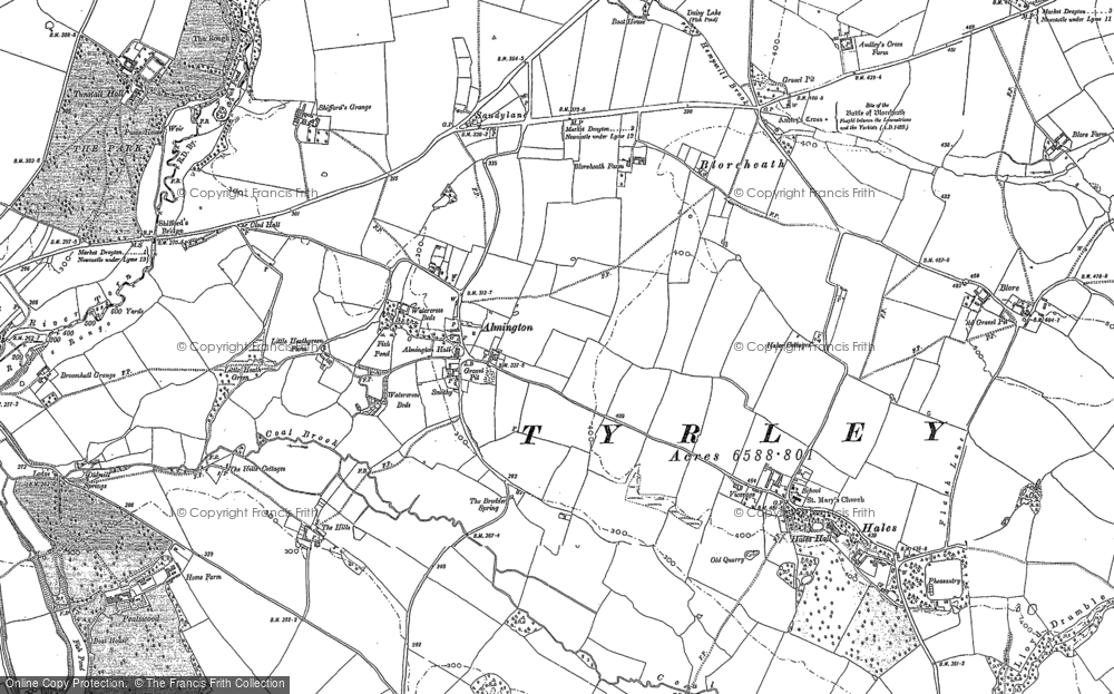 Old Map of Almington, 1879 - 1880 in 1879