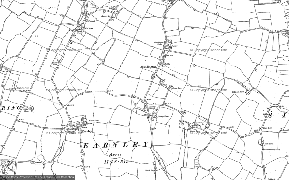 Old Map of Almodington, 1897 - 1923 in 1897