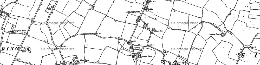 Old map of Almodington in 1897