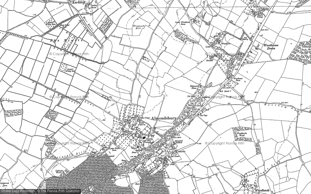 Map of Almondsbury, 1880 - 1901