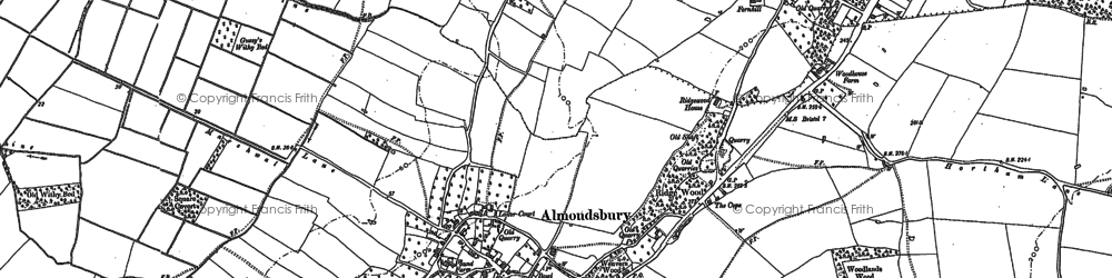 Old map of Almondsbury in 1880