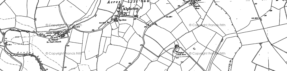 Old map of Aveley Wood in 1884
