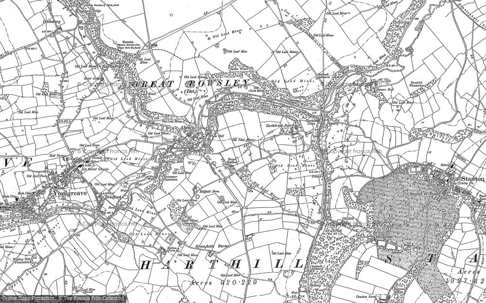 Old Map of Alport, 1878 in 1878