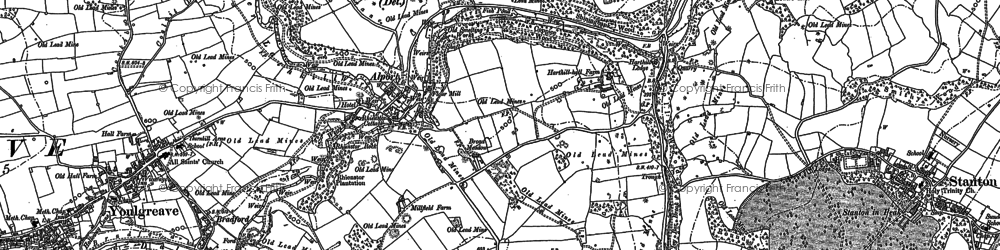 Old map of Alport in 1878