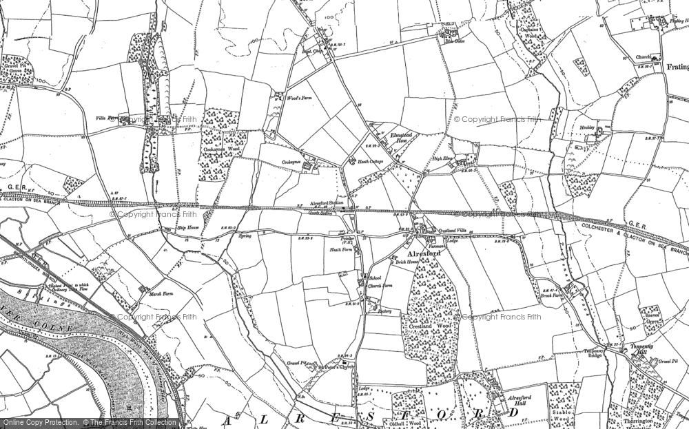 Old Map of Alresford, 1896 in 1896