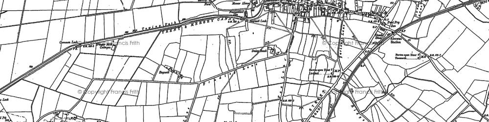 Old map of Bagnall in 1882