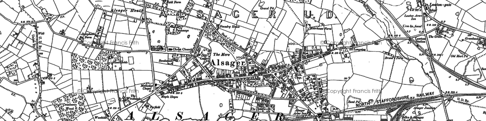 Old map of Lawton Heath End in 1908