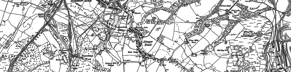 Old map of Alsagers Bank in 1898