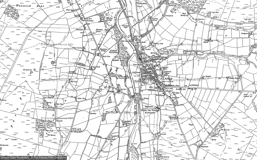 Old Map of Historic Map covering Bankfoot in 1898