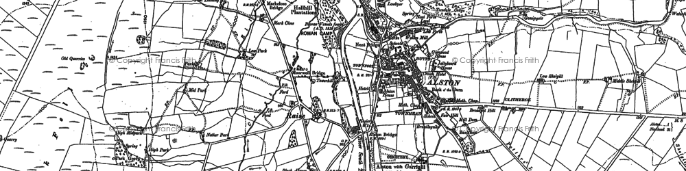 Old map of Bankfoot in 1898