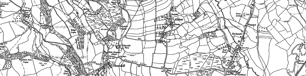 Old map of Alston in 1903