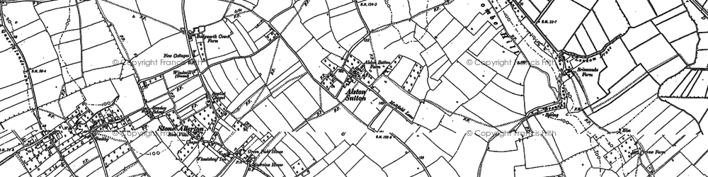 Old map of Alston Sutton in 1884