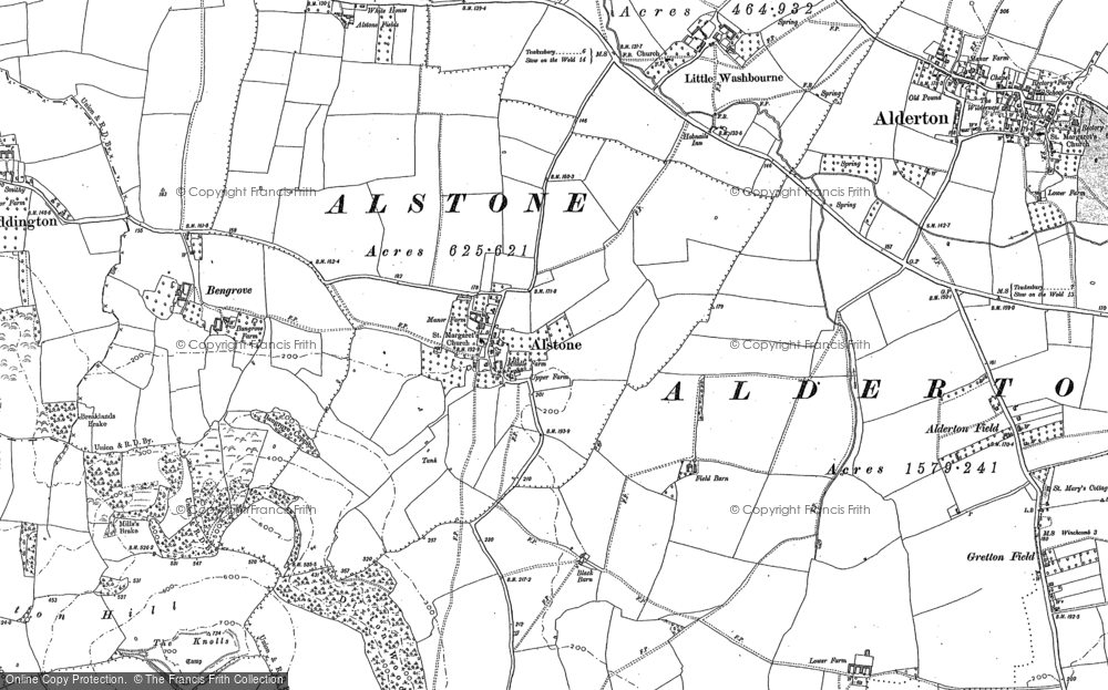 Old Map of Alstone, 1883 - 1901 in 1883