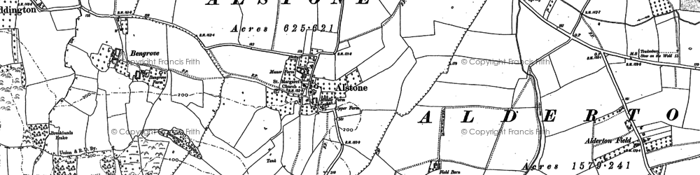 Old map of Alstone in 1883