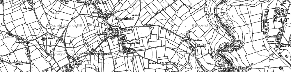 Old map of Alstonefield in 1898