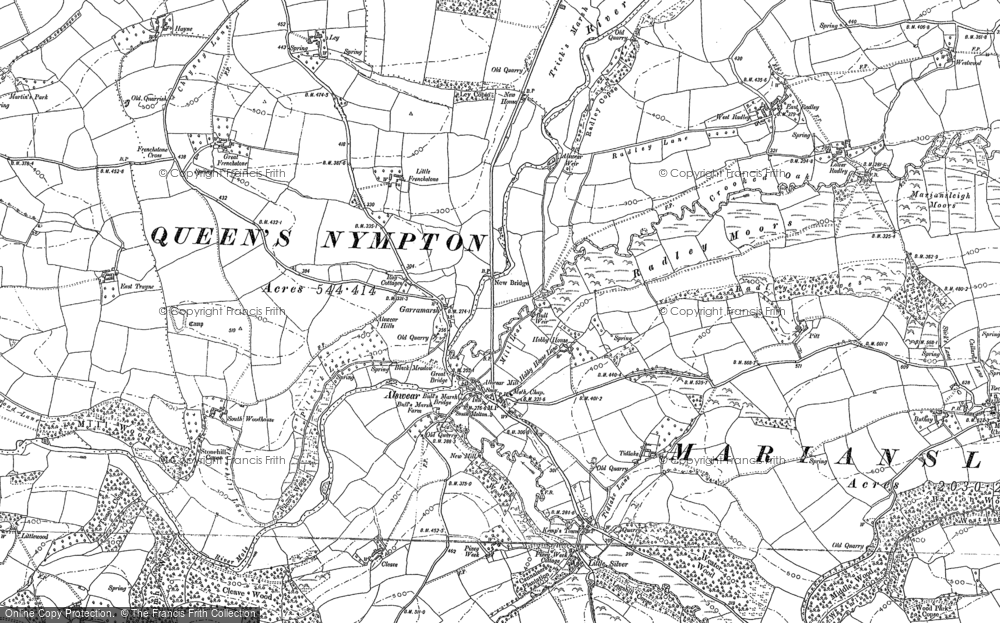 Old Map of Alswear, 1886 - 1887 in 1886