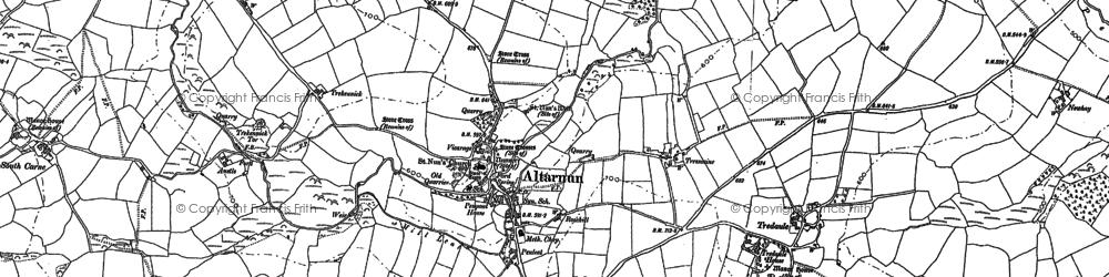 Old map of Altarnun in 1882