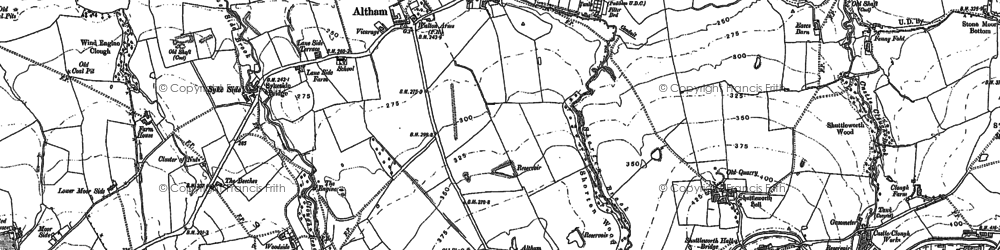 Old map of Altham in 1892