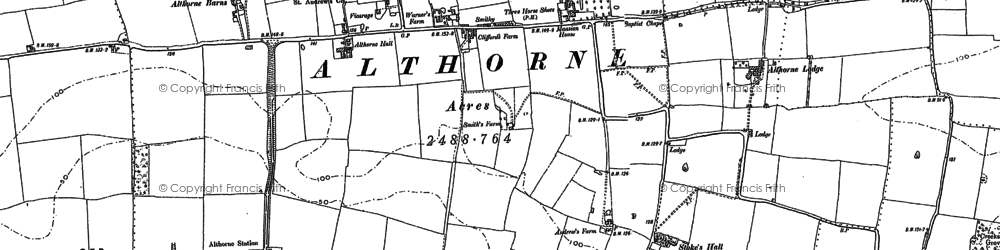 Old map of Althorne Sta in 1895
