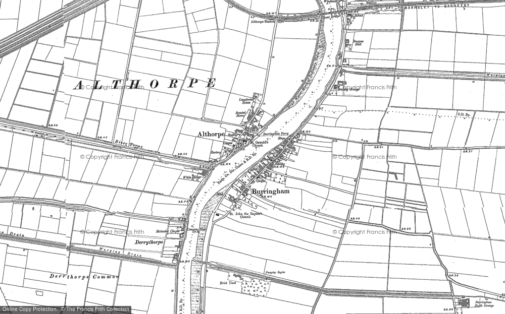 Old Map of Althorpe, 1885 - 1906 in 1885