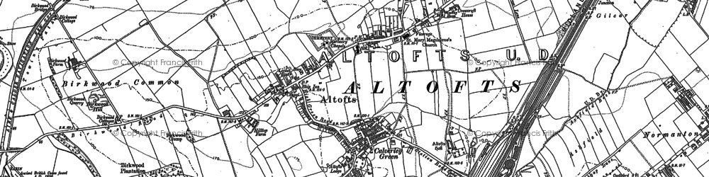 Old map of Altofts in 1890