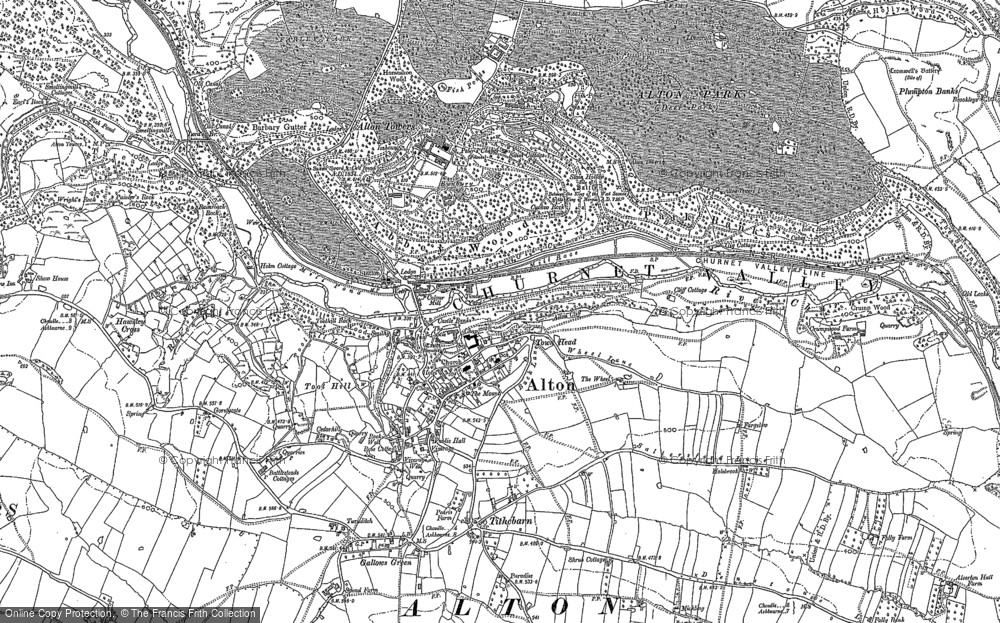 Old Map of Historic Map covering Abbey Wood in 1880