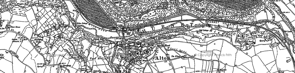Old map of Toot Hill in 1880