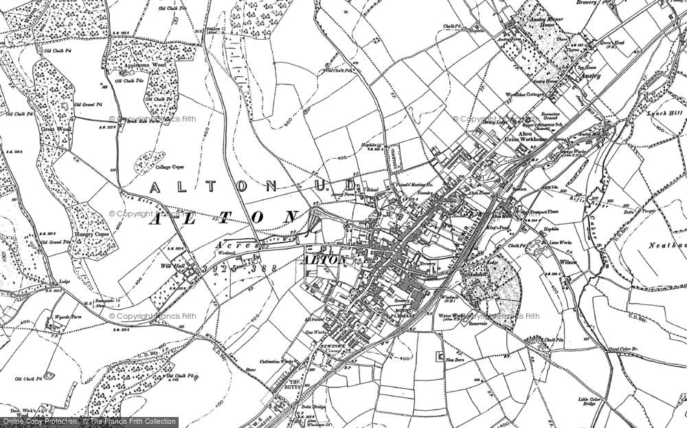 Old Map of Alton, 1895 in 1895