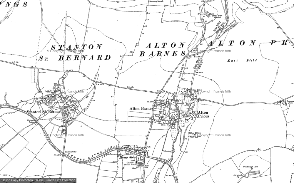 Old Map of Alton Barnes, 1899 in 1899
