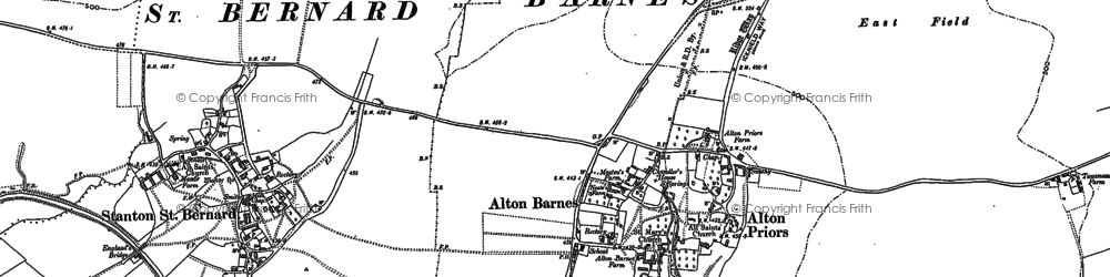 Old map of Alton Barnes in 1899
