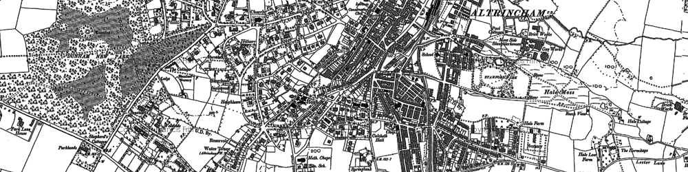 Old map of Altrincham in 1897
