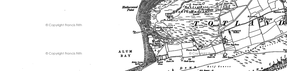 Old map of Alum Bay in 1907