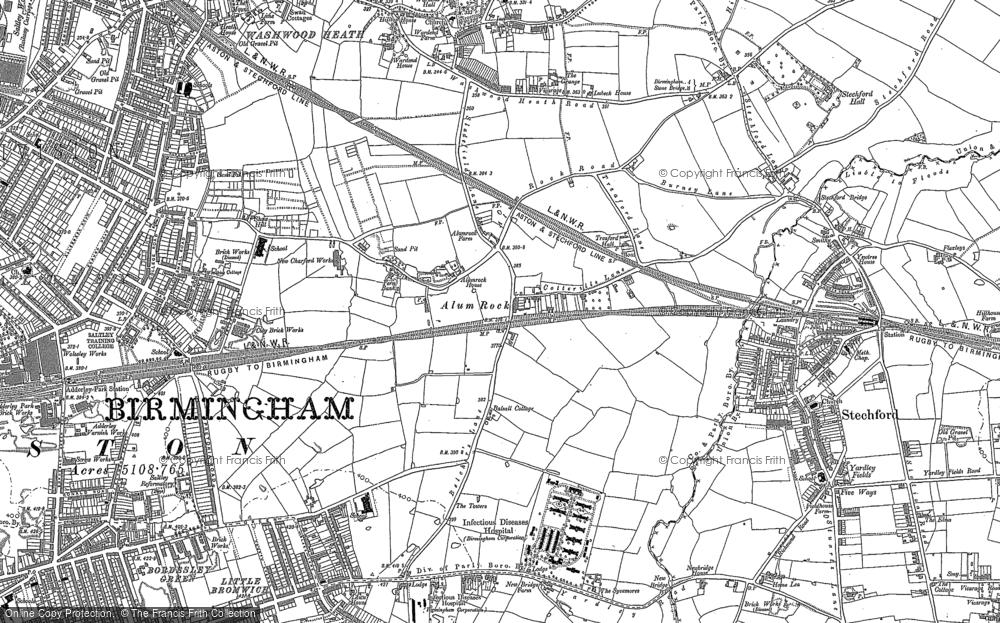 Map of Alum Rock, 1888 - 1902