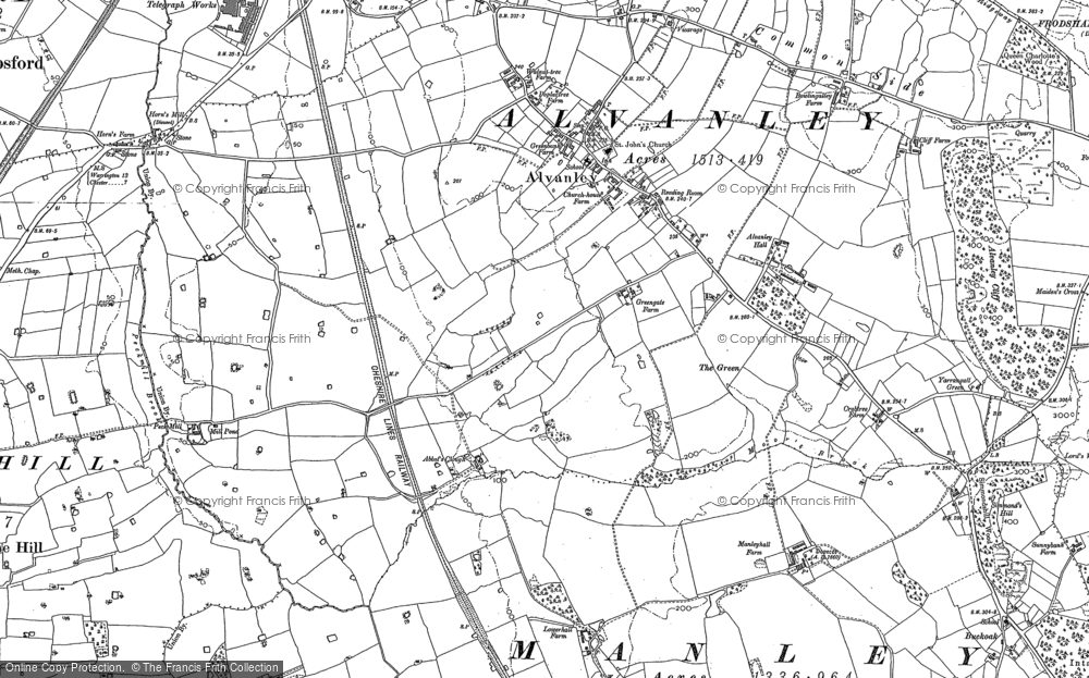 Old Map of Historic Map covering Alvanley Cliff in 1897