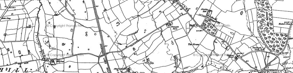Old map of Alvanley Cliff in 1897
