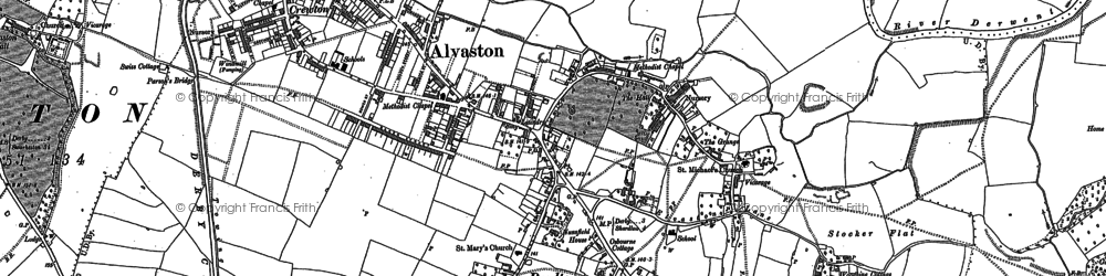 Old map of Alvaston in 1881