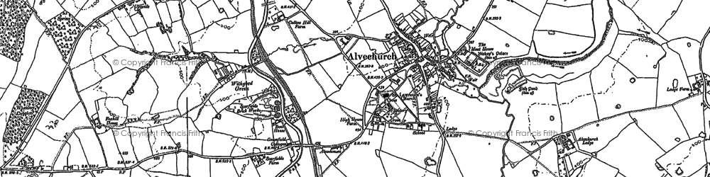 Old map of Alvechurch in 1883