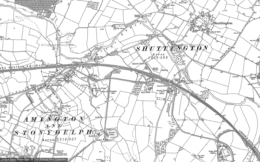 Old Map of Alvecote, 1900 - 1901 in 1900