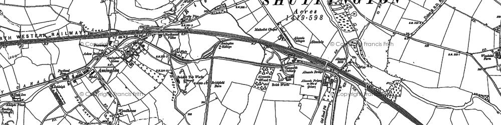 Old map of Alvecote in 1900
