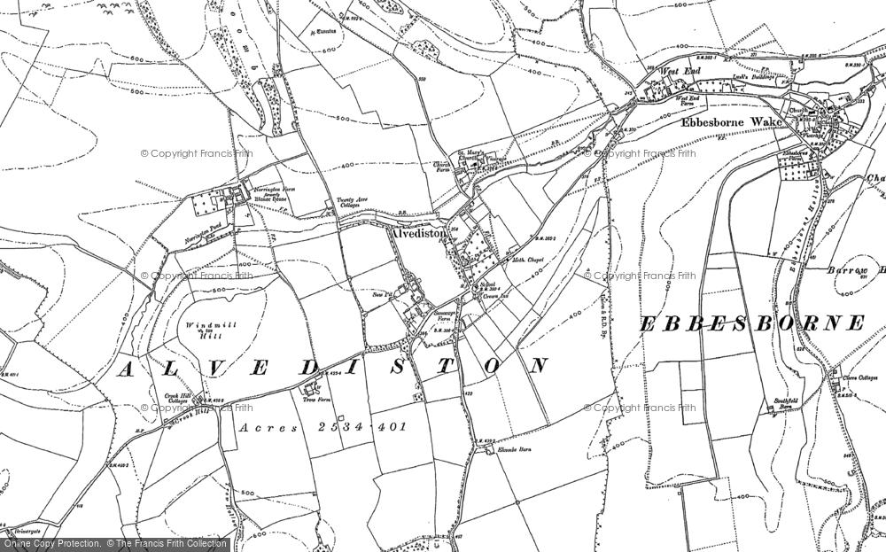 Old Map of Alvediston, 1900 in 1900