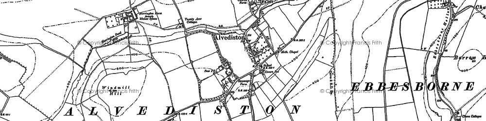 Old map of Alvediston in 1900