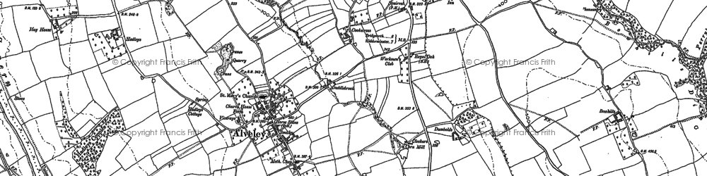 Old map of Astley in 1902