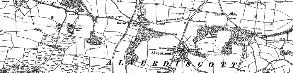 Old map of Alverdiscott in 1886