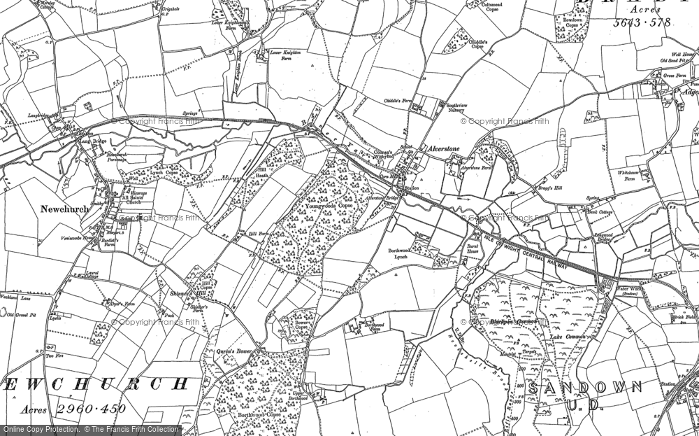 Old Map of Alverstone, 1896 - 1907 in 1896