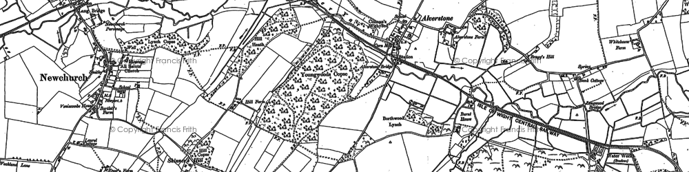 Old map of Alverstone in 1896
